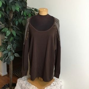.🎈Maurice's size 3 brown 3/4 sleeve top